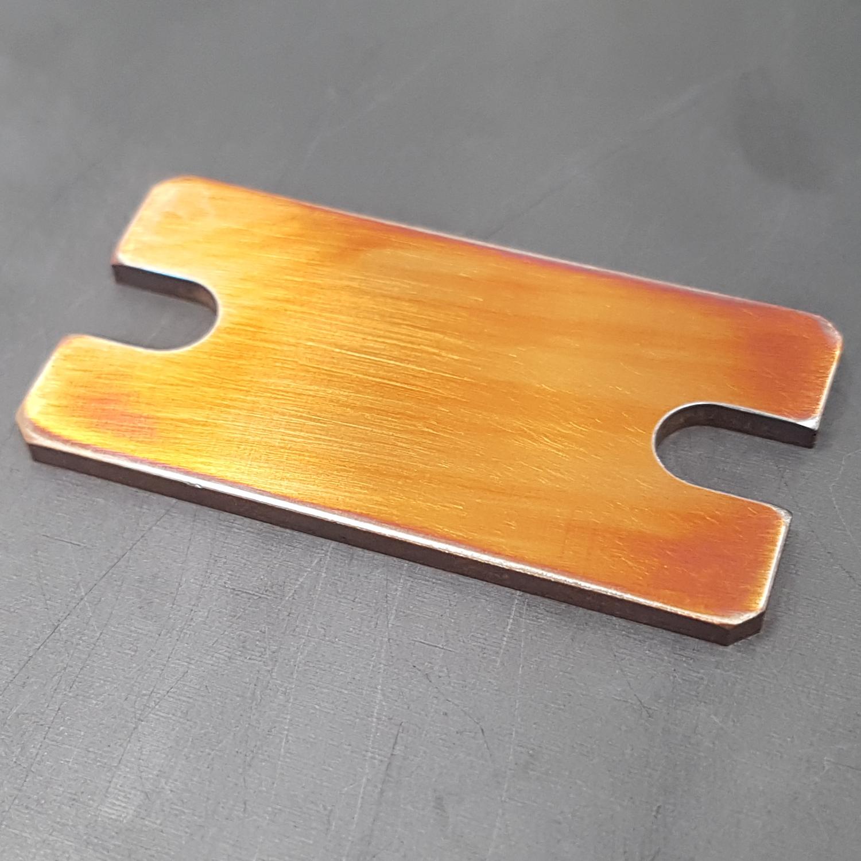 oxidized copper pad