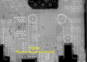 xray image of void free soldered power semiconductor